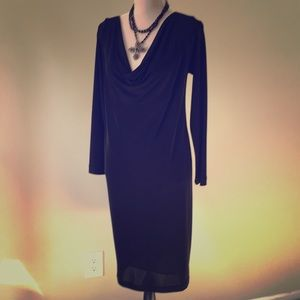 Olian Jersey knit black dress Size M